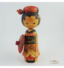Poupée japonaise kokeshi années 50 Maiko
