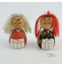 Mini Kokeshi Kabuki - Set of 2 Dolls