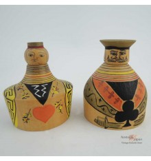 Mini Kokeshi - Set of 2 Dolls