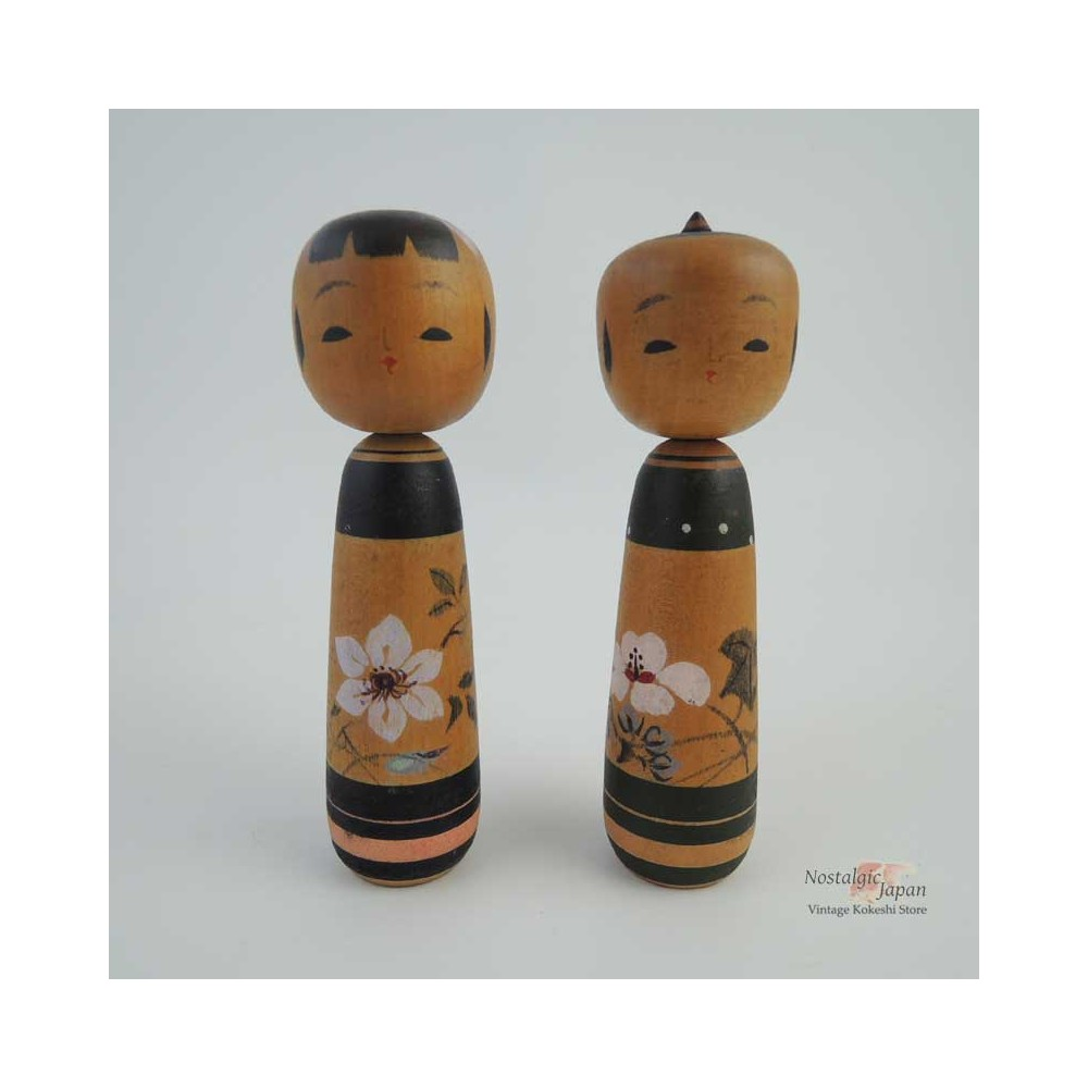 Unique Kokeshi - Set of 2 Dolls