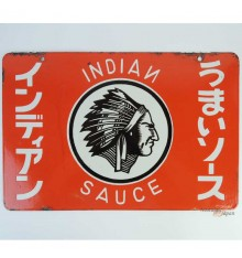 Japanese vintage Enamel Sign - Indian Sauce
