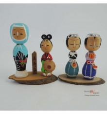 Mini Kokeshi - Set of 4 Dolls