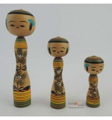 Mini Kokeshi - Set of 3 Dolls