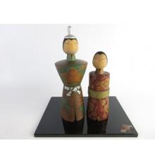 Kokeshi rares- Lot de 2 poupées japonaises - Issetsu