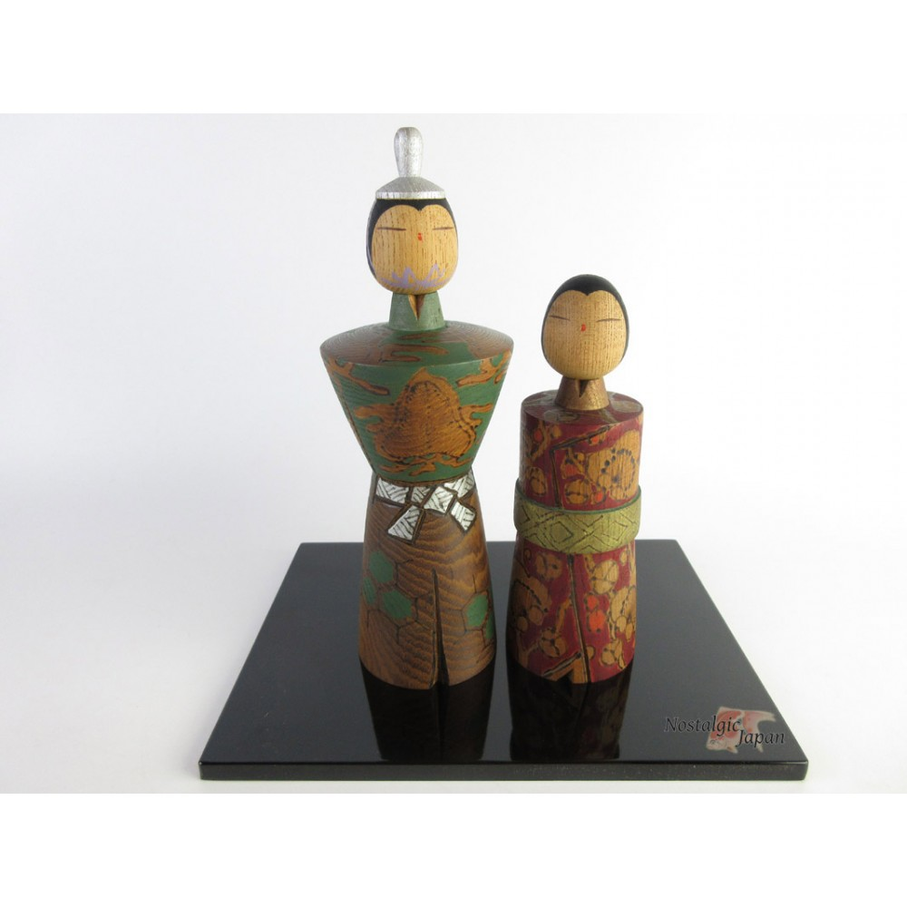 Rare Kokeshi - Set of 2 Dolls