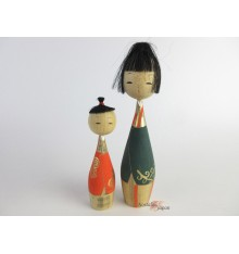 Kokeshi unique - Lot de 2 poupées japonaises