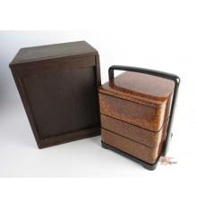 Jubako - boîte en bois lacquée vintage