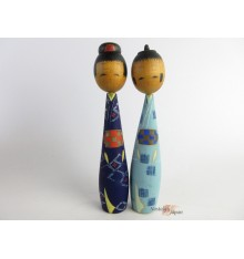 Kokeshi - Lot de 2 poupées japonaises