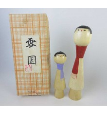 Kokeshi unique - Lot de 2 poupée japonaise