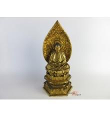 Vintage Japanese Wooden Buddha Statue
