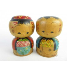 Kokeshi Dolls 50's set of 2