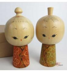 Kokeshi - Lot de 2 poupées japonaises