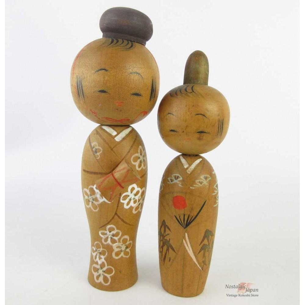 Kokeshi - Set of 2 Dolls