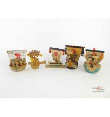 Kokeshi - Set of 5 Dolls