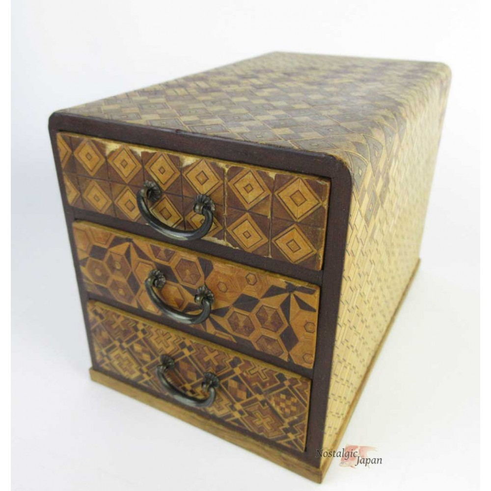 Japanese Antique Wooden Small Chest