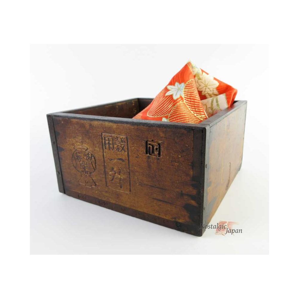 Boîte en bois Masu, boîte shabby
