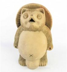 Japanese antique pottery racoon dog, Tanuki