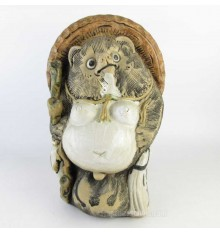 Japanese antique ceramic racoon dog, Tanuki